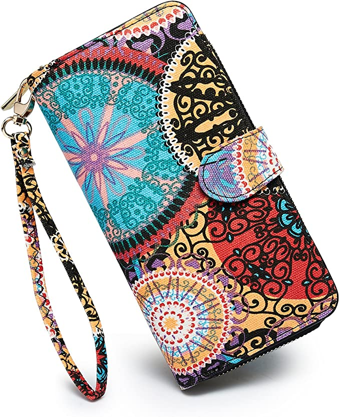LOVESHE Women's New Design Bohemian Style Purse Clutch Bag Card Holder New Fashion (TY) best women's wristlets