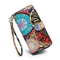 LOVESHE Women wallet Bohemian wristlet Clutch wallets