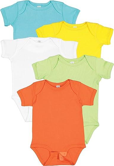 3Pk Combed Cotton Boys Short Sleeve Body Suits E2