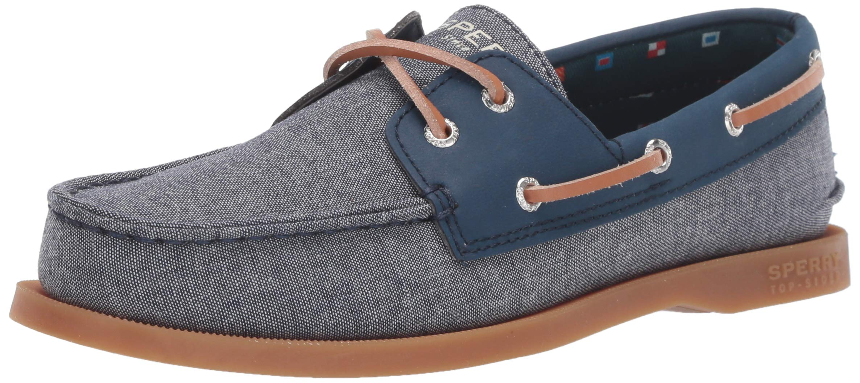 SPERRY Boys' A/O Boat Shoe, Chambray, 065 Medium US Big Kid