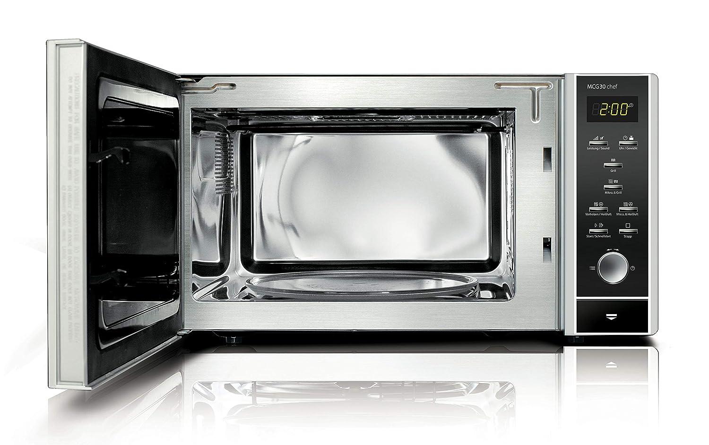 Caso MCG 30 Chef-Microondas, con convección y Grill, 900 W, 30 litros, Acero Inoxidable, Inox