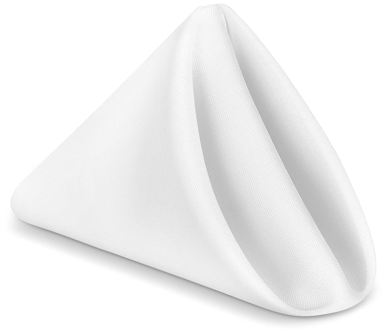 Utopia Home Restaurant Cloth Napkins 17 x 17 Inches - White - (Pack of 24)