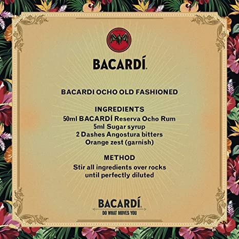 Bacardi Ron Gran Reserva 8 años - 700 ml: Amazon.es ...