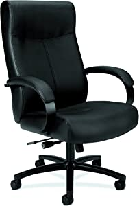 HON Validate Big and Tall Executive Chair - Leather Computer Chair for Office Desk, Black (HVL685)