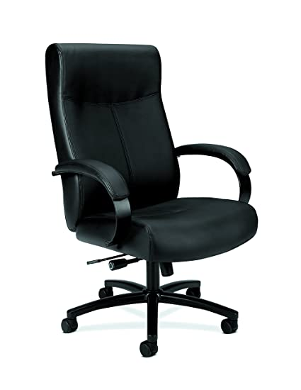 HON Validate Big And Tall Executive Chair   Leather Computer Chair For Office  Desk, Black