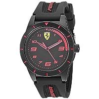 Boy's RedRev Quartz TR90 and Silicone Strap Casual Watch, Color: Black (Model: 860006)