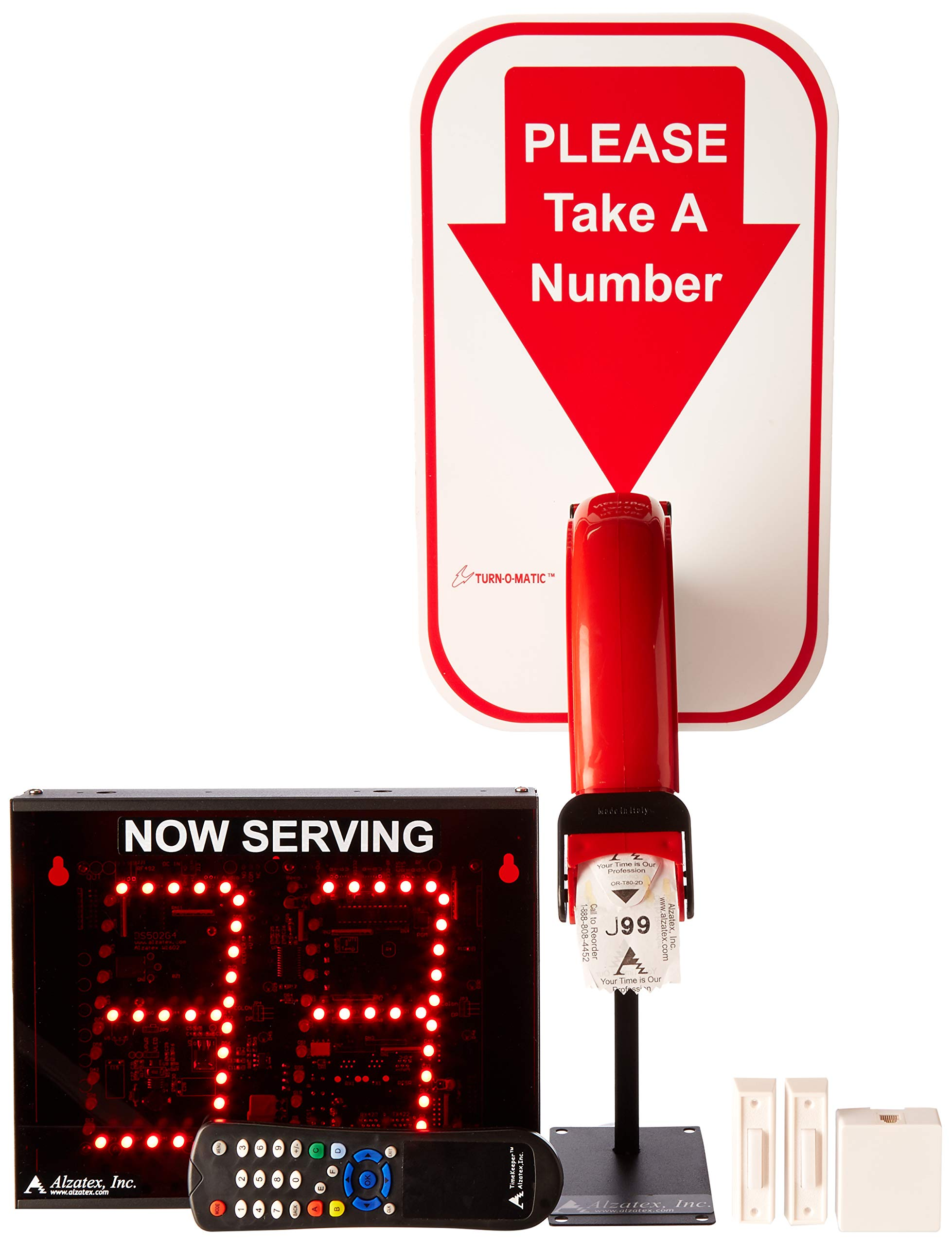Alzatex 2-Digit Take a Number System with Free Ticket roll