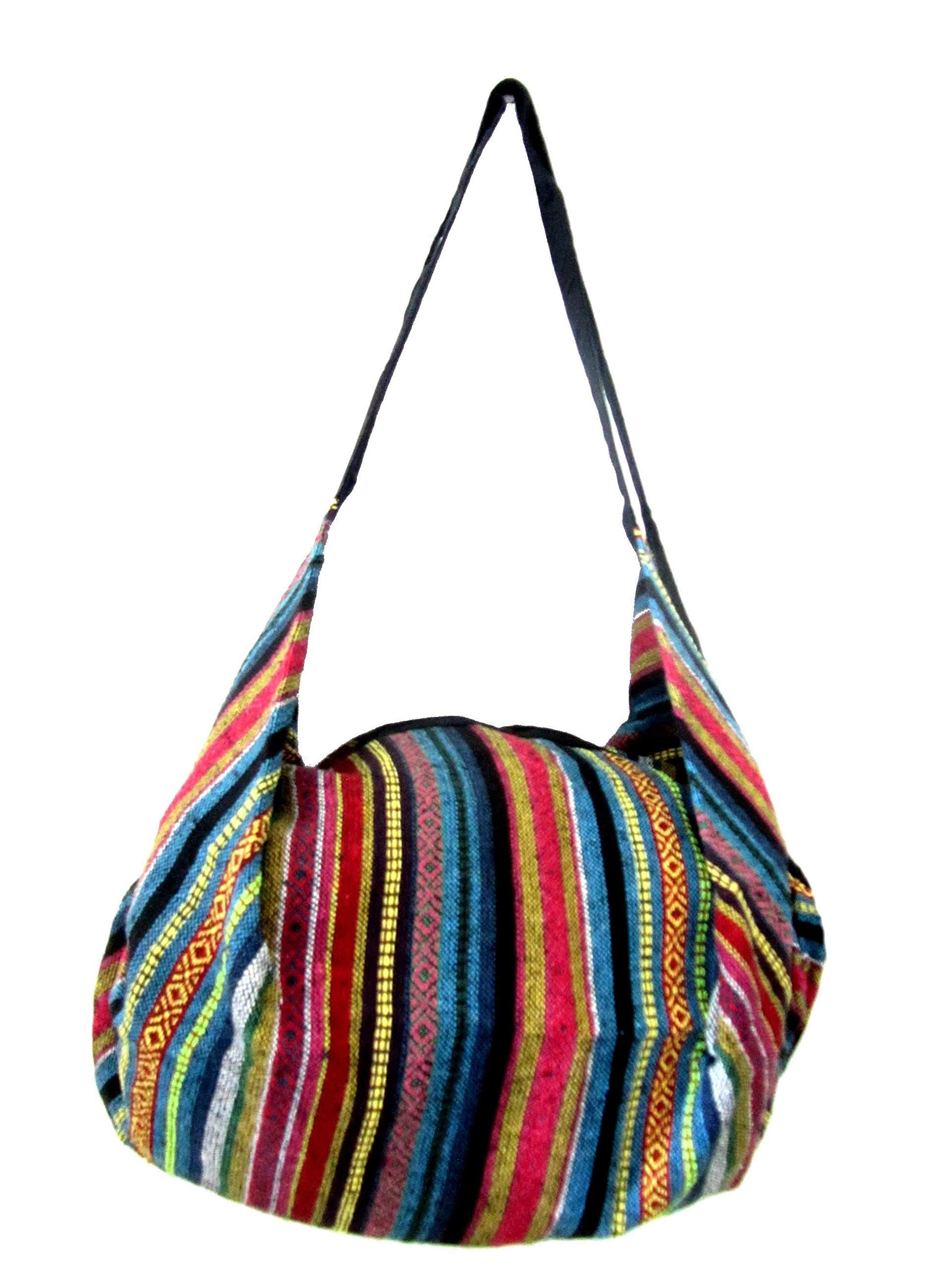 092445ab42 Galleon - Large Aztec Yoga Convertible Crossbody Backpack Hippie Hobo Sling  Bohemian Shoulder Bag (Rainbow)