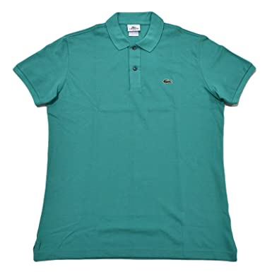 f9dc0b445 Image Unavailable. Image not available for. Color  Lacoste Mens Slim Fit  Mesh Polo Shirt (Diabolo Green ...