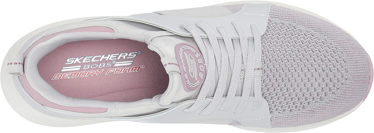 Skechers Bobs Sparrow 2.0-Metro Daisy, Baskets Femme Gris Gray And Mauve Engineered Knit Gray Gore Trim Gymv