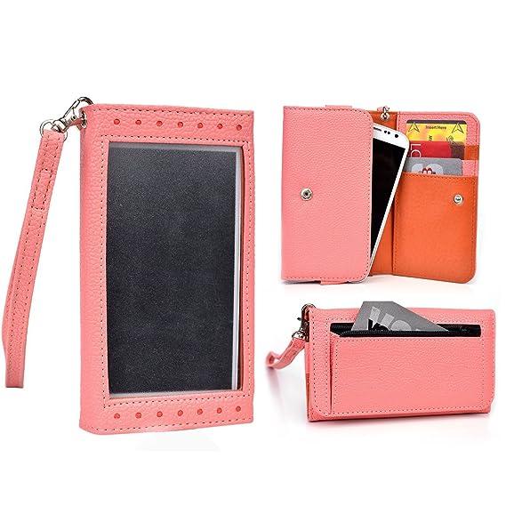 online retailer 8bd81 766d4 Cooper Cases(TM) Expose Women's Clutch Motorola DROID Mini/DROID RAZR M  Smartphone Wallet Case in Coral/Tangerine (Universal Design, Screen Shield,  ...