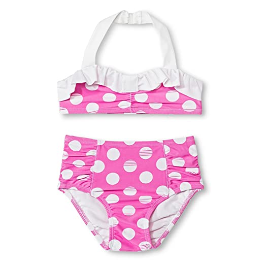 ff227820784c7 Circo Baby and Toddler Girls' Polka Dots Bikini Set Pink (18 Months, Pink