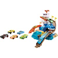 Mattel Hot Wheels Juego Hot Wheels Playa Tiburón, Multicolor