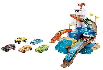 Hot Wheels Pista Tiburon Devorador Mattel Bgk04 Amazon Es
