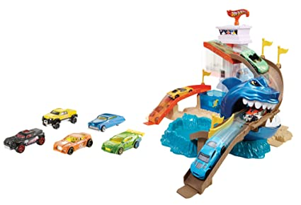 Mattel Hot Wheels Juego Hot Wheels Playa Tiburon Multicolor Mattel