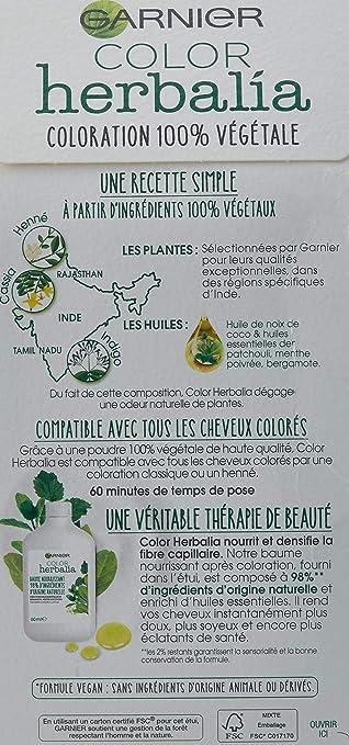 Color herbalia Coloración 100% vegetal Castaño Oscuro Profundo