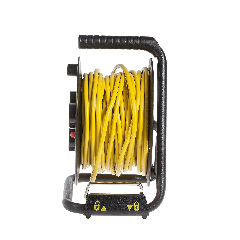 Noir Stanley SXECDL26BSE Enrouleur de c/âble /électrique