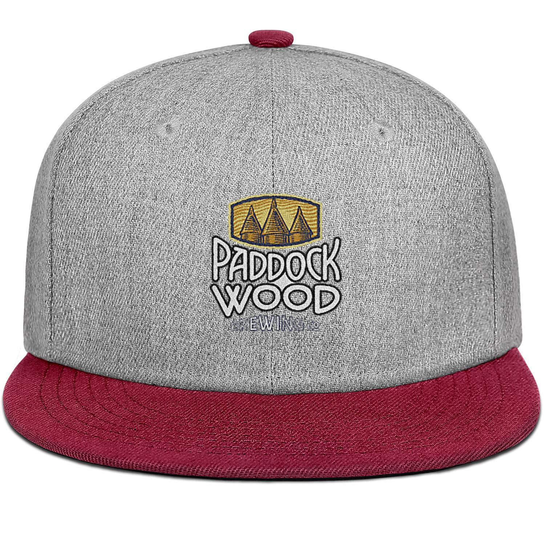 Paddock Wood Brewing Co Men Womens Wool Trucker Cap Adjustable Snapback Sun Hat