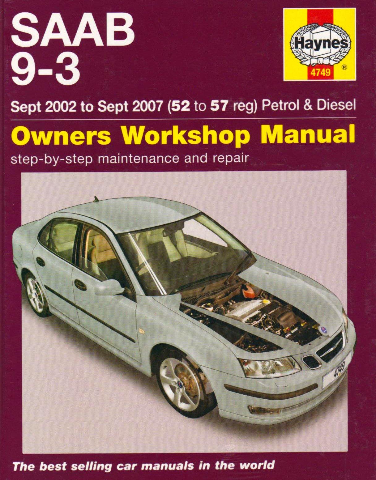 Saab 9-3 (02 - 06) (Service & repair manuals): Amazon.co.uk: A K Legg:  9781844257492: Books