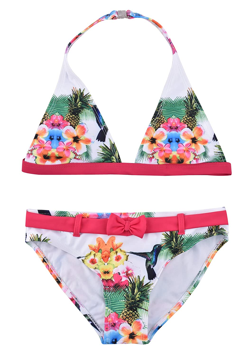 ZOEREA Little Girls Bikinis Two Piece Halter Tankini Swimwear Swimming Suit Set YS2387