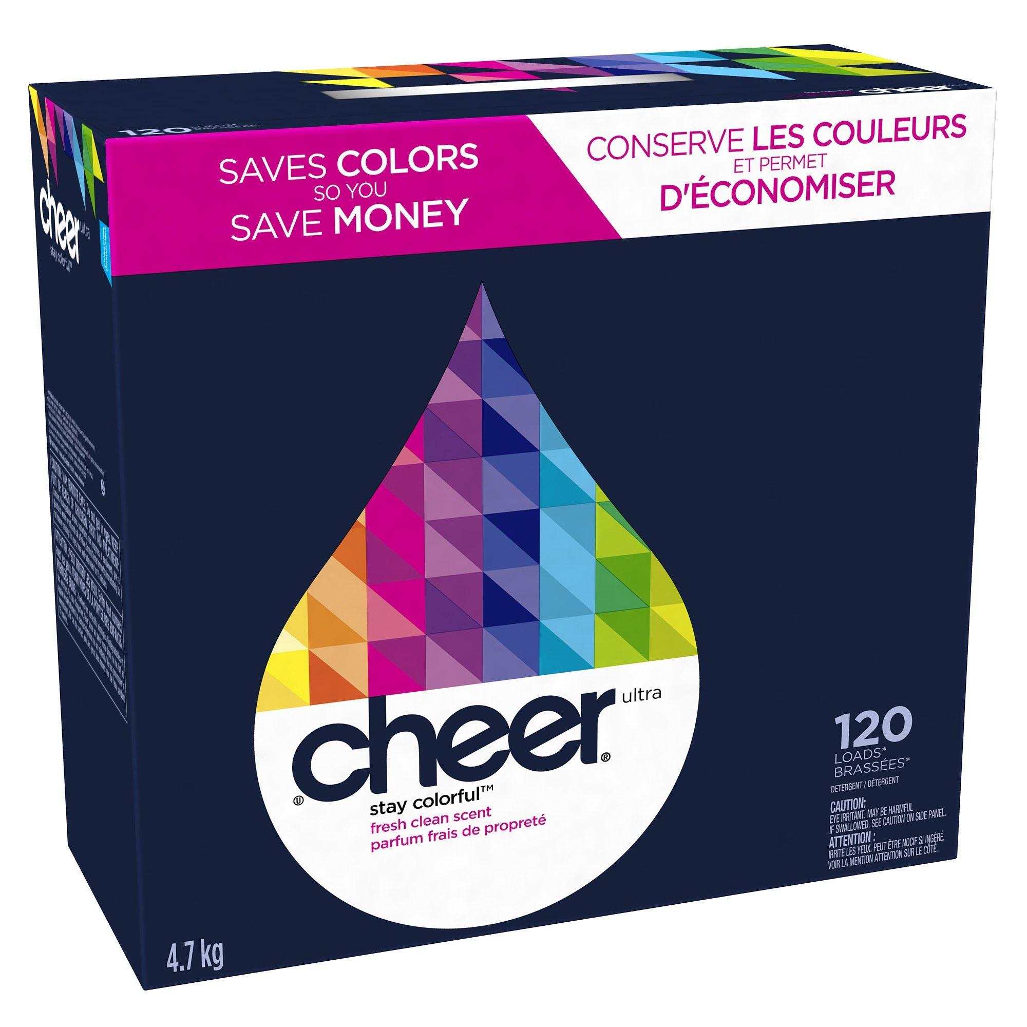 Cheer, Fresh Clean Scent Detergent Powder 120 Loads, 169 Ounce