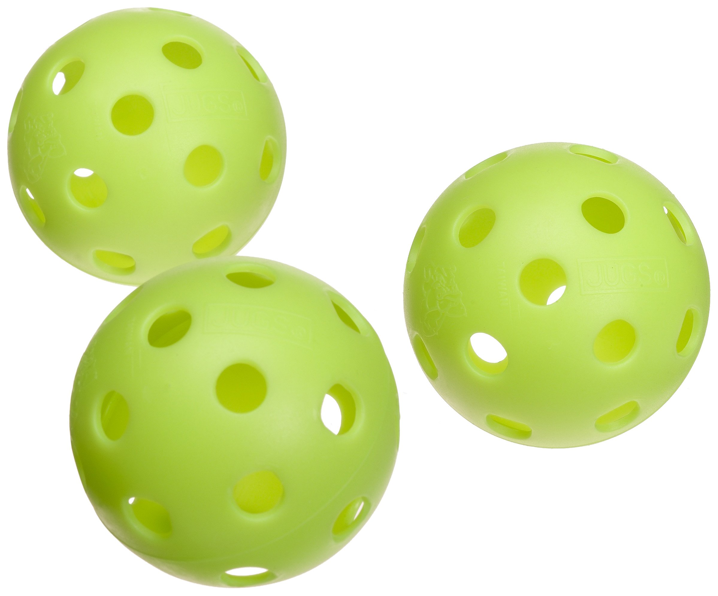Jugs Vision-Enhanced Green Poly Baseballs (One Dozen)