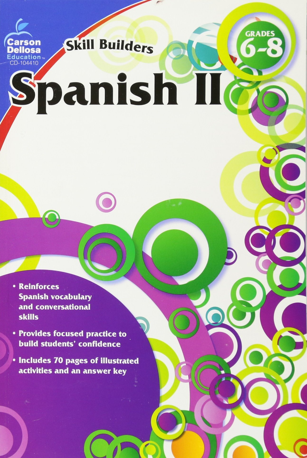 Amazon.com: Spanish II, Grades 6 - 8 (Skill Builders) (9781936023370 ...