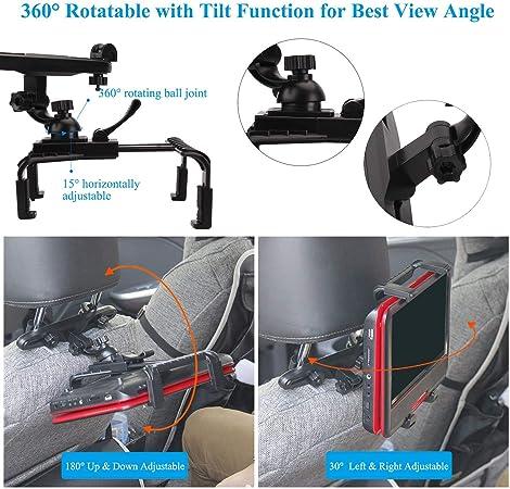 Mayoga Auto Kopfstütze Halterung Halter Auto Kopfstützenhalterung Tablet Halterung 360 Verstellbare Auto Rücksitz Kopfstütze Verlängerung Halterung Für Alle 7 12 Zoll Ipad Tabletten Dvd Player Elektronik