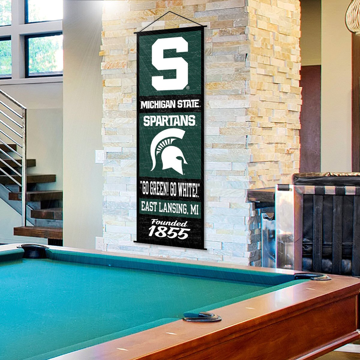 Michigan State Spartans Banner and Scroll Sign