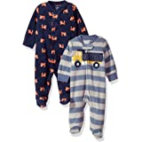 Essentials 2-Pack Microfleece Sleep and Play Mixte b/éb/é