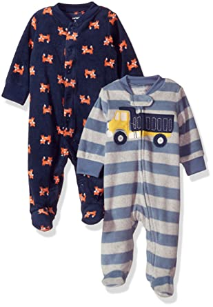883ff0dd3073 Amazon.com  Carter s Boys  2-Pack Microfleece Sleep and Play  Clothing