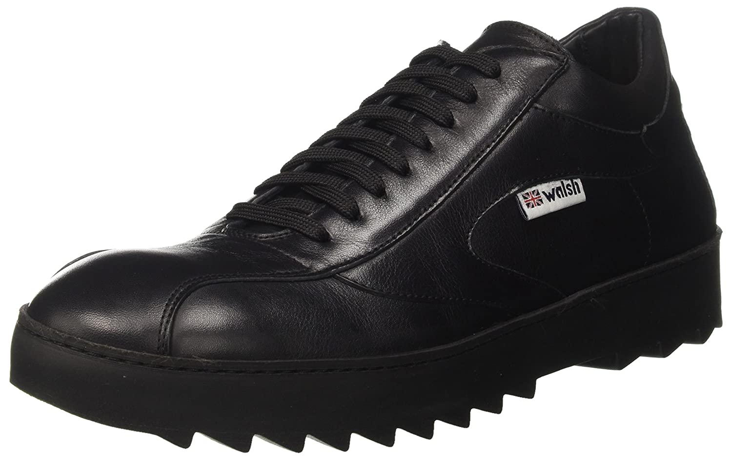 Walsh Herren Midsyle Wrapper Sole Sneaker  40 EU|Schwarz (Black Leather)