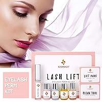 Eyelash Perm Kit, Professional Quality Lash Lift, Semi-Permanent Curling Perming Wave, Lotion & Liquid Set