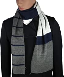 Mens Cashmere-Feel Winter Scarf By Debra Weitzner  100% Cotton a829d05284ff