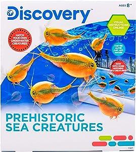 Discovery Prehistoric Sea Creatures by Horizon Group USA, Sea Monkeys Growing Kit, Includes Brine Shrimp Eggs, Sea Creature Food, Aquarium, Sand, Bonus Poster & More