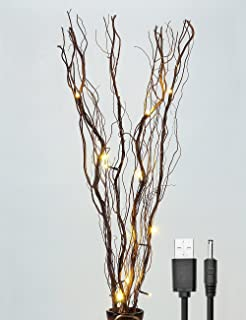 Lightshare Upgraded 36inch 16led Natural Willow Twig Lighted Branch For Home Decoration Usb Plug