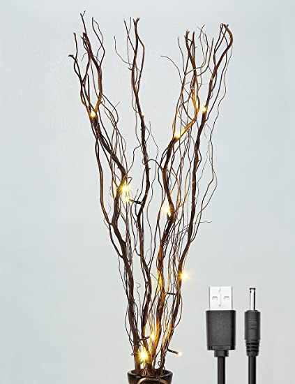 Amazon.com: Lightshare Upgraded 36Inch 16LED Natural Willow Twig ...