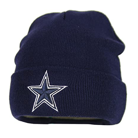 Amazon.com   Dallas Cowboys Basic Knit Hat (Navy)   Sports Fan ... 009183f8e35