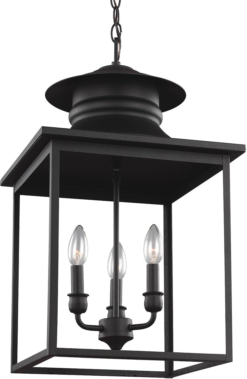 Sea Gull Lighting 5136103-839 Huntsville Three-Light Hall or Foyer Light Fixture, Blacksmith Finish