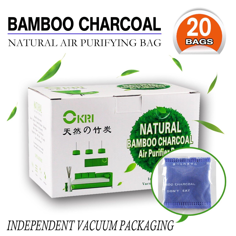 Depuratore Naturale. Deodoranti in Carbone di Bambù / Filtri in Carbone di Bambù, Deodorante per Scarpe ed Eliminatore di Odori, Set da 20 OKI