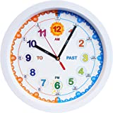 Aniclock Time Teacher Children Wall Clock, Easy to Read clock with Silent movement. Teach children how to read an analogue clock with this perfect gift, 29cm Diameter