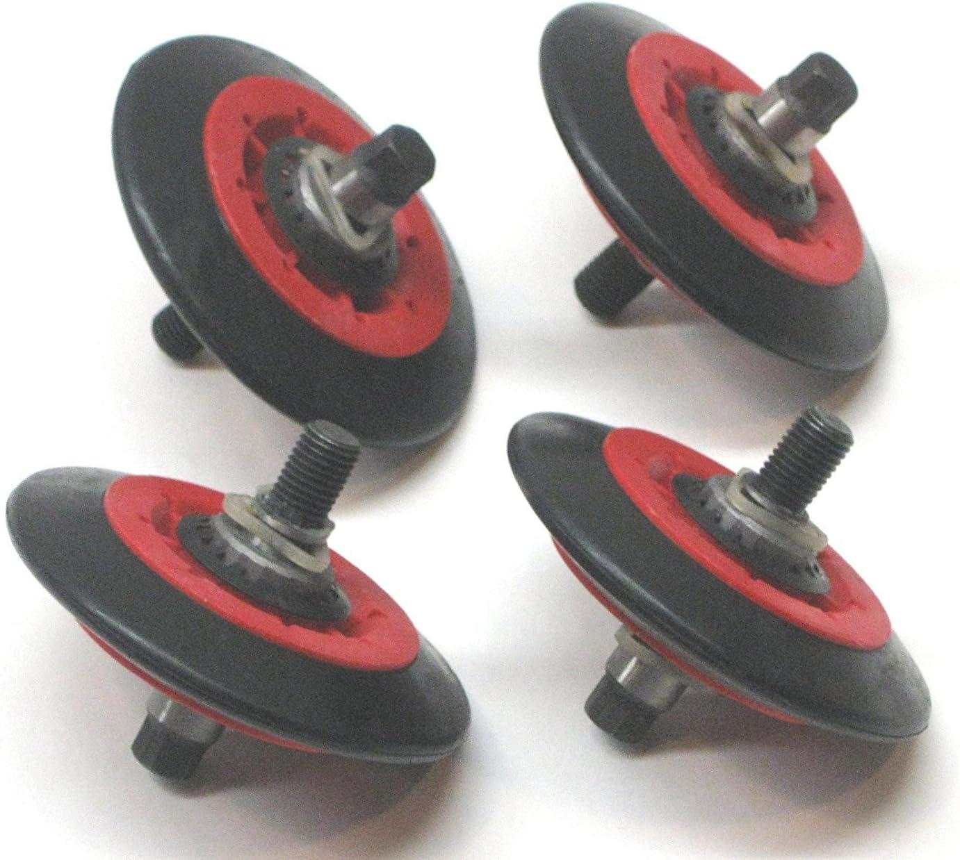(4 Pack) - Dryer Drum Roller Assembly für Lg, 4581El2002A, Ap5688895, Ps8260240, 4581El2002C
