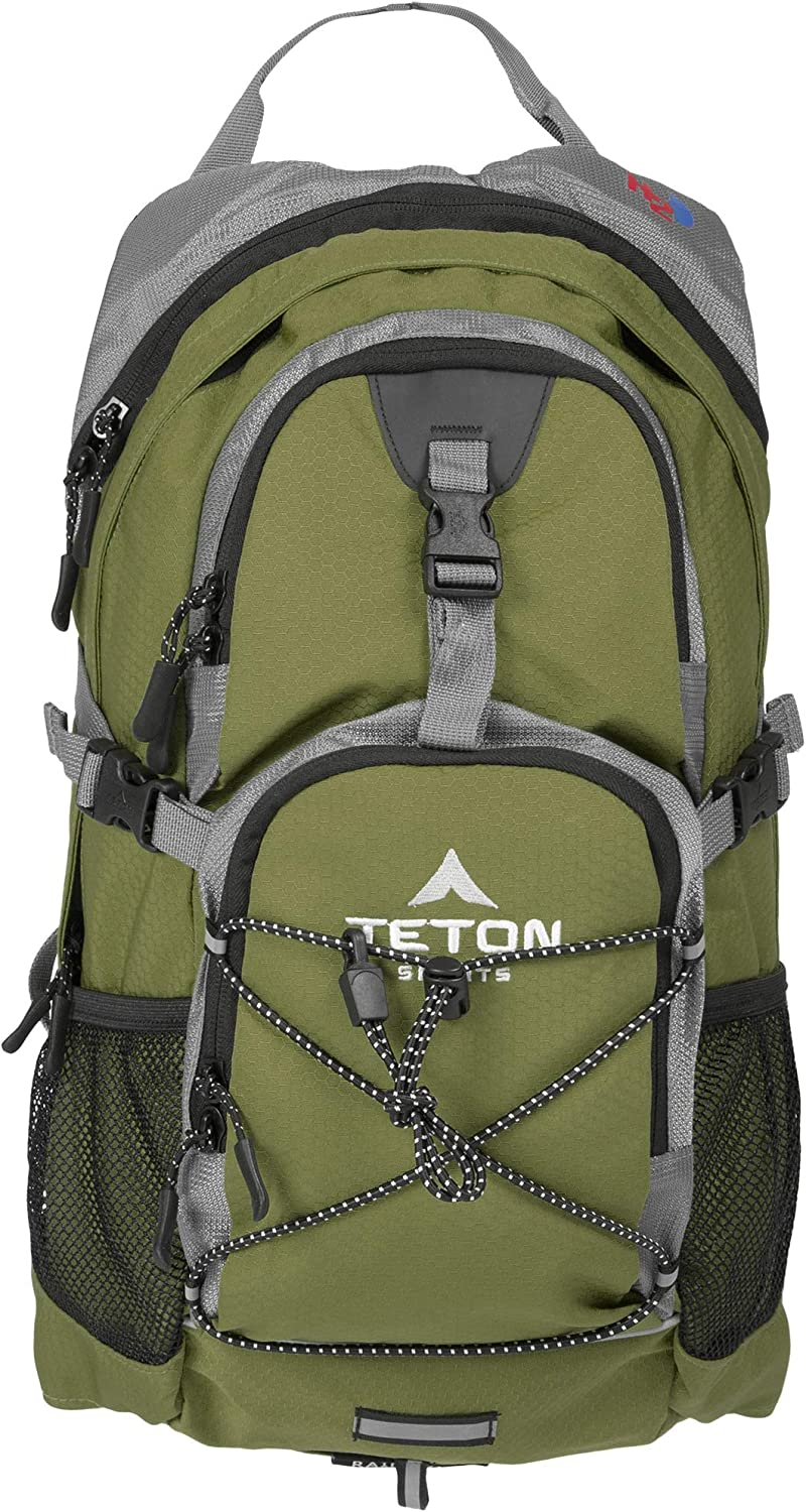 TETON Sports Oasis 1100 Hydration Pack; Free 2-Liter Hydration Bladder; For Backpacking, Hiking, Running, Cycling, and Climbing