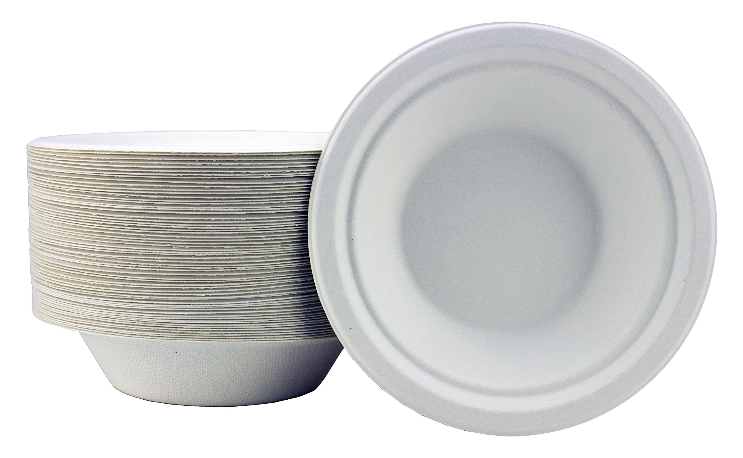 Disposable Biodegradable Bowls Compostable Bowls Strong Disposable Bowls 400ml Bowls Eco Friendly Bowls Super Rigid Strong Bowls == Pack of 50