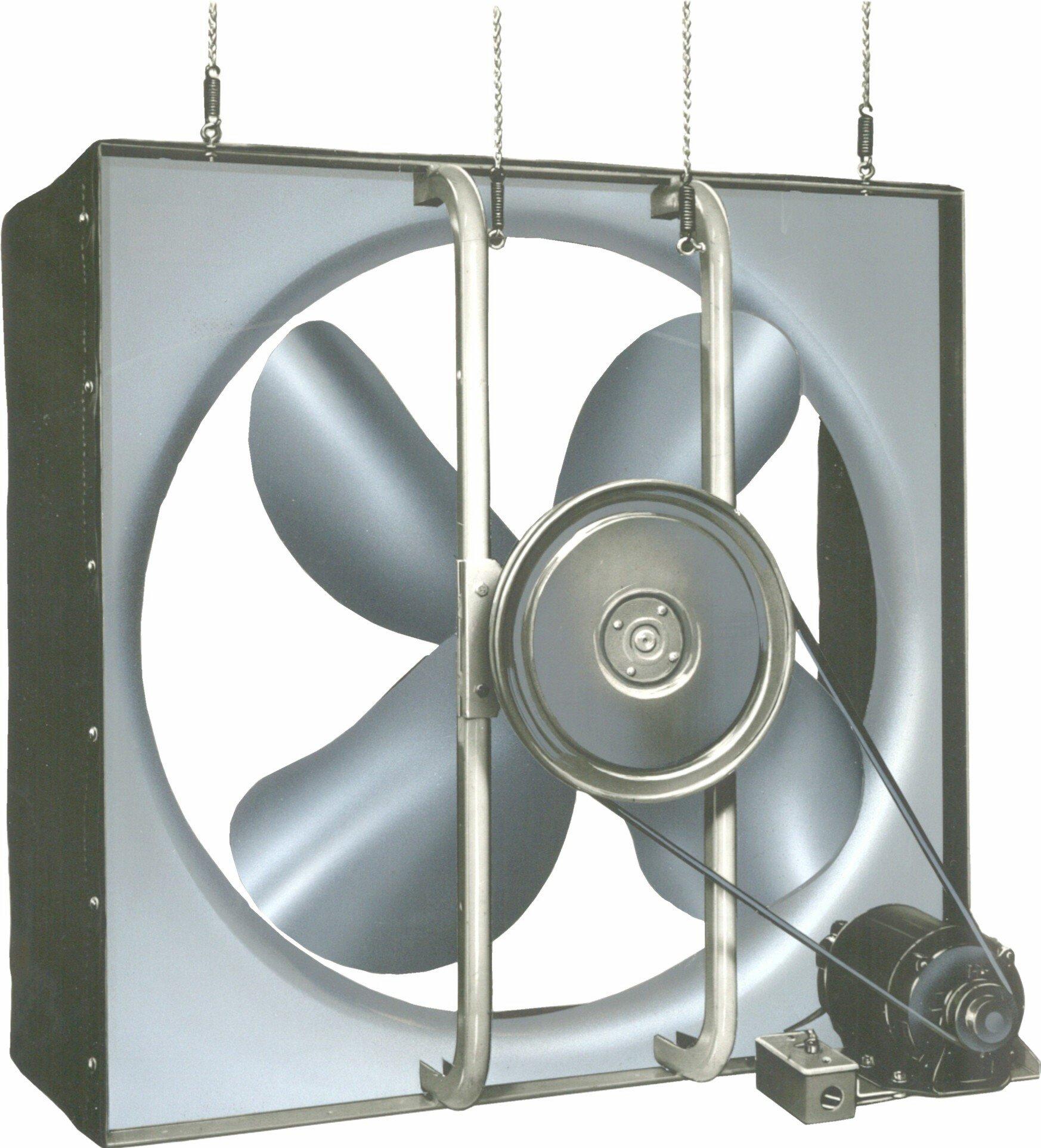 Airmaster 32688 Whole House Fan, 2 Speed, Semi-Enclosed Motor, 30'' Prop Diameter, 115V, 1/3HP Motor