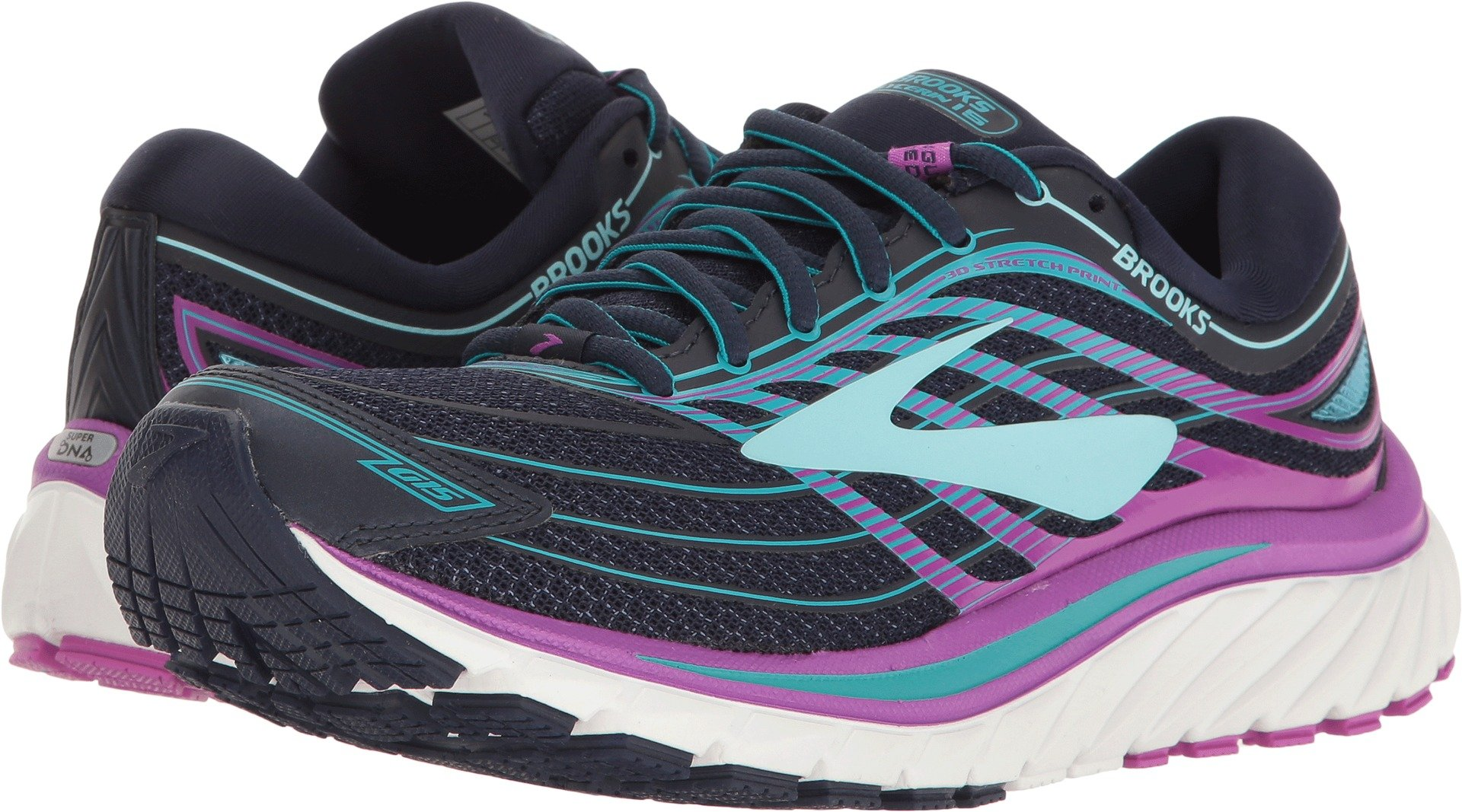 Brooks Women's Glycerin¿ 15 Evening Blue/Purple Cactus Flower/Teal Victory 11.5 AA US