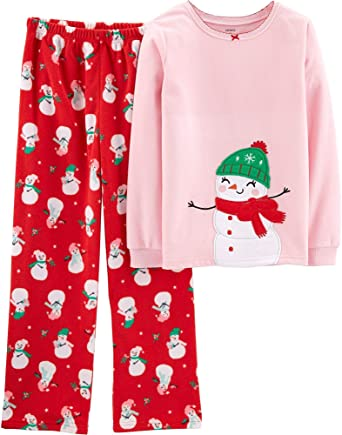 Amazon.com  Carter s Girls  2-Piece Fleece Pajamas Top and Pants Set   Clothing 772cf4c17