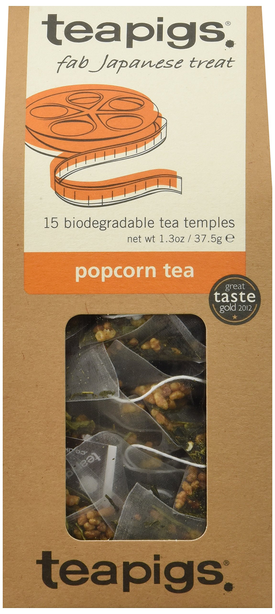 teapigs Popcorn Tea, 15 Count (Pack of 6)