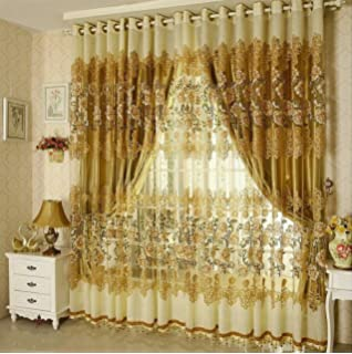 Bon Bigmum Luxury Curtains And Tulle For Living Room Beaded Sheer Curtains And  Blackout Curtains For Window