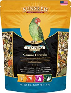 Sunseed 49040 Vita Prima Sunscription Conure Food - High-Variety Formula, 3 LBS